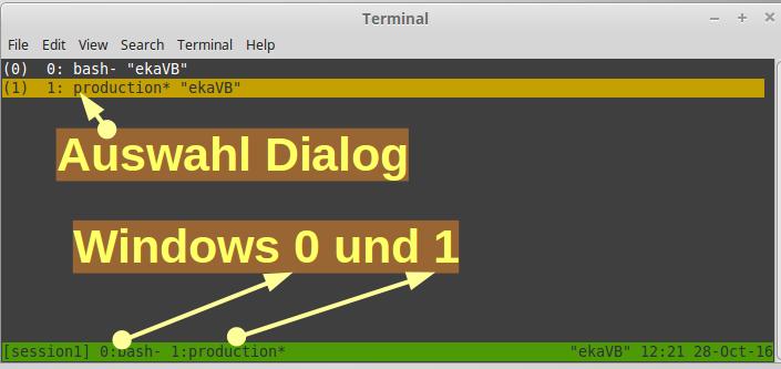 Terminal Multiplexer tmux